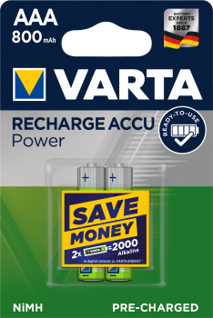 Varta Akku 56703 2er AAA 800mAh Ready to use