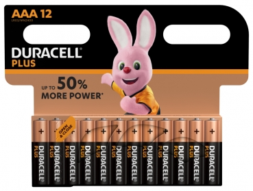 Duracell Micro MN2400 AAA Plus in 12er-Blister Standard