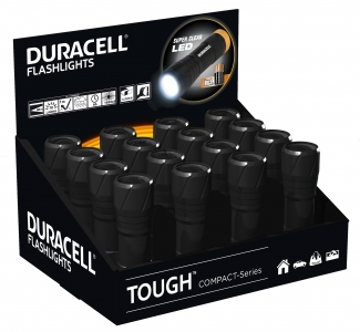 Duracell Flashlights Tough CMP-9  16er-Display 1W inkl. Batterie