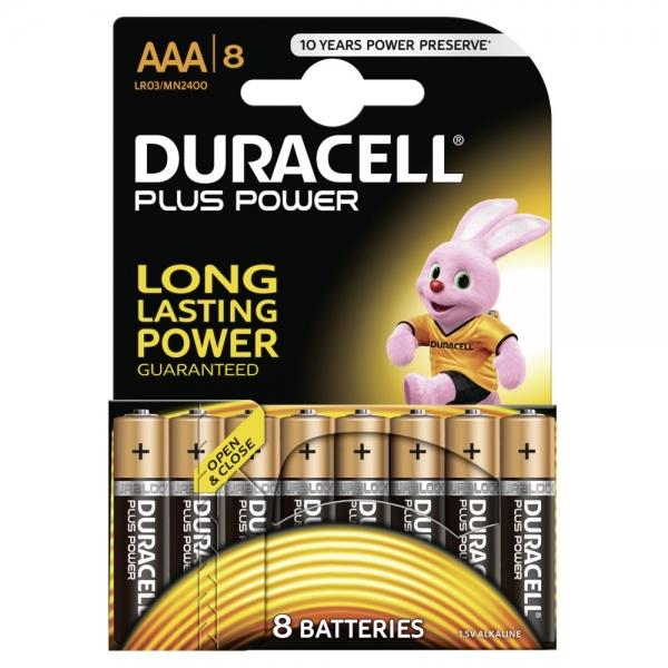 Duracell Micro MN2400 AAA Plus Power in 8er-Blister Standard